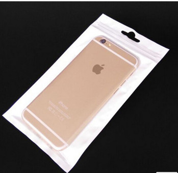 Good Quality Stand Up Plastic Bags & Eco - Friendly White Clear Opp Plastic Bag Ziplock For Cellphone Case on sale