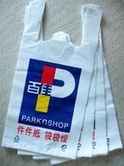 Good Quality Stand Up Plastic Bags & Environmental Small Plastic Shopping Bags With Personalized Logo Printing on sale