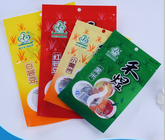 Easy Tear Ziplock Kraft Stand Up Pouches With Window Environmental Protection