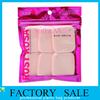 China Pink color Printed heat seal edge ziplock packing bags, PET and PE laminated zip lock bags factory