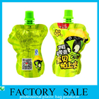 China Green Color Printed 100ml Volume Packaging Bag , Stand Up Spout Pouch 60x80mm company
