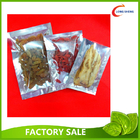 China Al Foil 3 Side Heat Seal Plastic Vacuum Food Storage Bags 0.08mm / 0.10mm factory