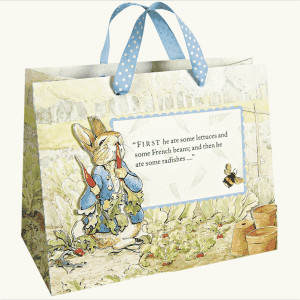 fashionable recycled paper gift bags printed reusable shopping bags
