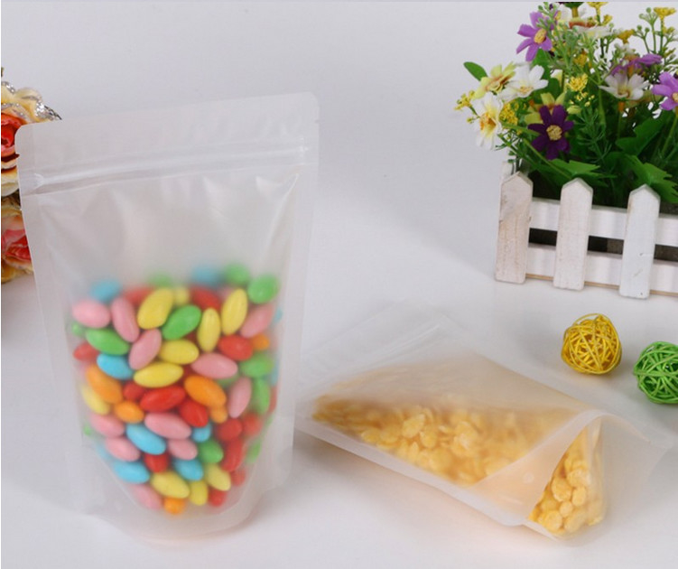 Air Proof Stand Up Plastic Bags Transparent With Sgs Certificate