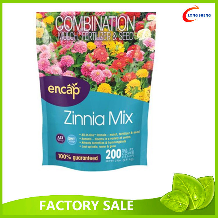 Printing Standing Horticultural Use Plastic Ziplock Bags For Fertilizer Packaging