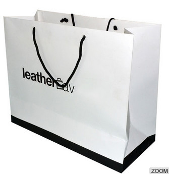 Luxury Printed Paper Carrier Bags Full Color , Paper Gift Bags With Handles