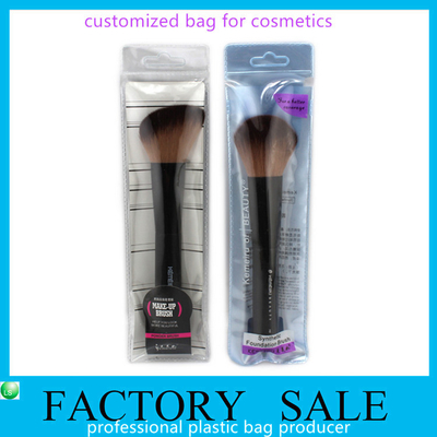 Custom Soft Clear Pvc Bags With Zipper , Pvc Packaging Bags For Brush