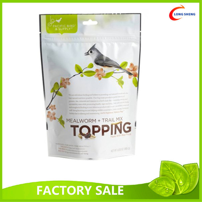 PE Laminate 0.1mm Pet Food Packaging Pet Food Bag , Bottom Gusset Image Printed Plastic Bag