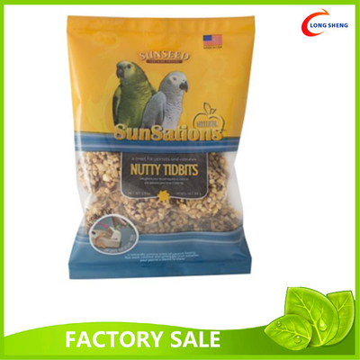 Big Size Heat Seal CMYK Printed Pet Food Bag , Bird Seeds Packaging Bag