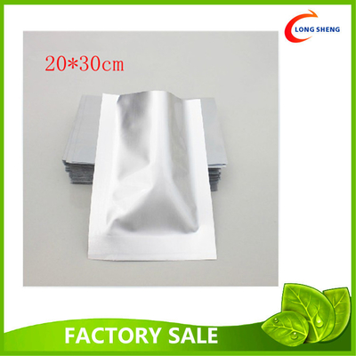 Flat Aluminum Foil 3 Side Heat Seal Plastic Vacuum Food Storage Bags 0.08mm / 0.11mm thick