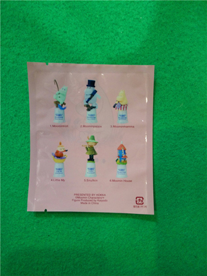 Eco - Friendly  PP Flat Custom made Heat Seal Bags With Round Hanging Hole , Toy packaging