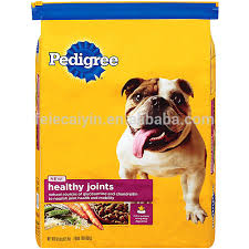 Square Flat Bottom Waterproof Pet Food Bag With Laser Tear Line